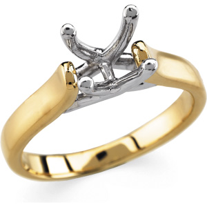 Solitaire Engagement Ring Mounting  DD - 121325:100016:P