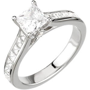 Princess Cut Engagement Ring DD - 121573:101:P