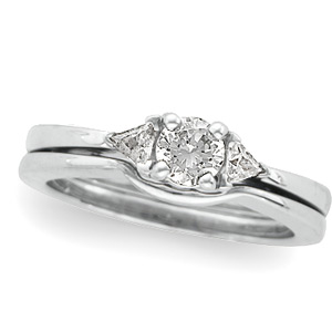 3-Stone Engagement Ring Mounting & Band