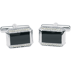 1/4 Carot Total Weight Diamond Cuff Links