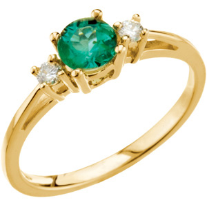 Genuine Emerald & Diamond Ring DD - 67568:100:P