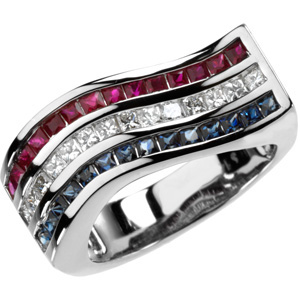 Multicolor Gemstone & Diamond Ring DD - 66742:60001:P