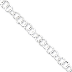 Sterling Silver 8.5inch Fancy Link Bracelet